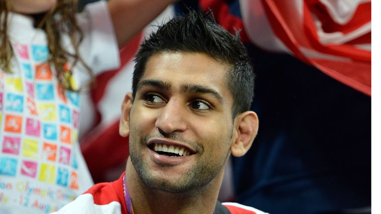 Khan: got back to winning ways by defeating Carlos Molina in December