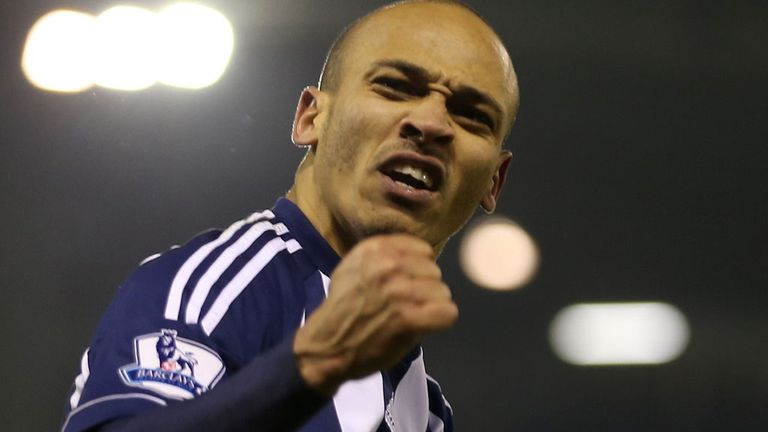 Peter Odemwingie: Celebrates his equaliser for West Brom