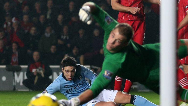 Samir Nasri and Joe Hart: Manchester City duo warned by manager Roberto Mancini