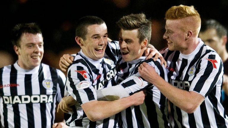 Graham Carey: Celebrates strike against Hearts
