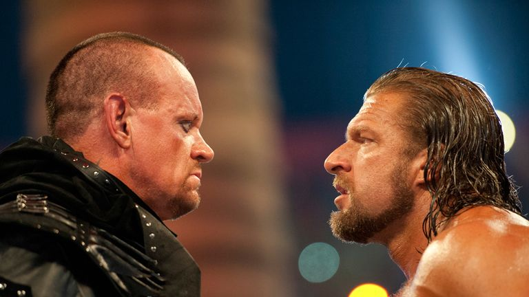 The Undertaker and Triple fought an epic battle inside Hell in a Cell at WrestleMania 28