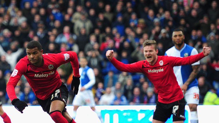 Fraizer Campbell (left): Scores for Cardiff against Blackburn