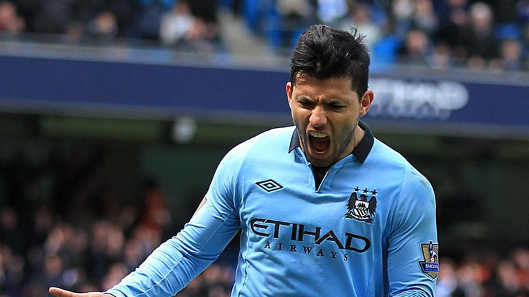 Sergio Aguero opened the scoring for Manchester City against West Ham