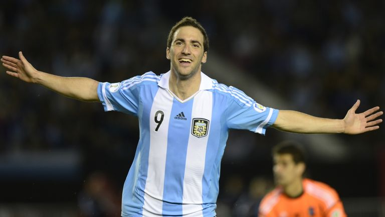 Gonzalo Higuain: On target for Argentina