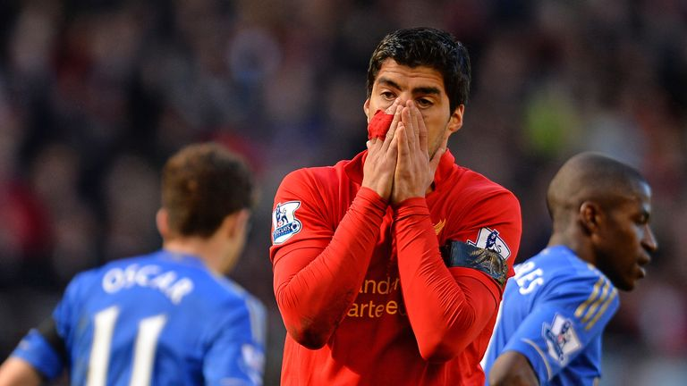 Luis Suarez: The Liverpool striker has been banned for 10 matches by the Football Association