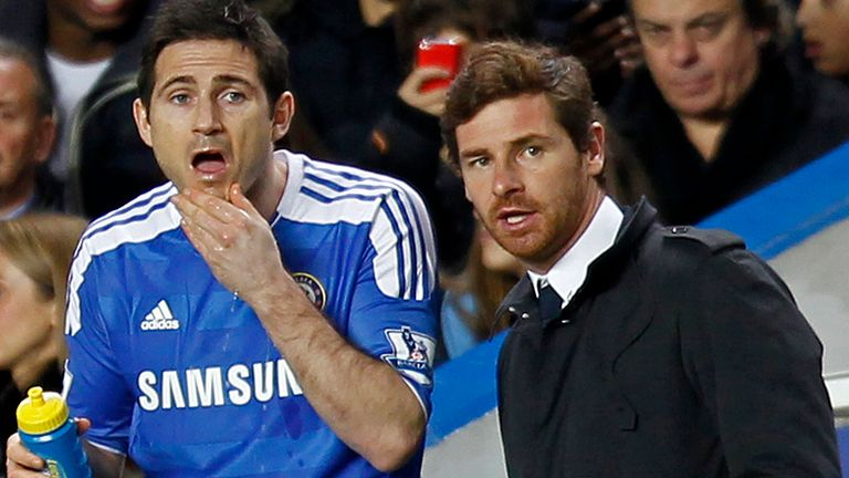 Andre Villas-Boas claims Frank Lampard didn't support him during his nine-month spell in charge of Chelsea