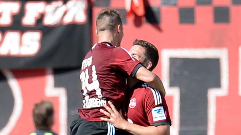 Robert Mak and Per Nilsson celebrate for Nurnberg