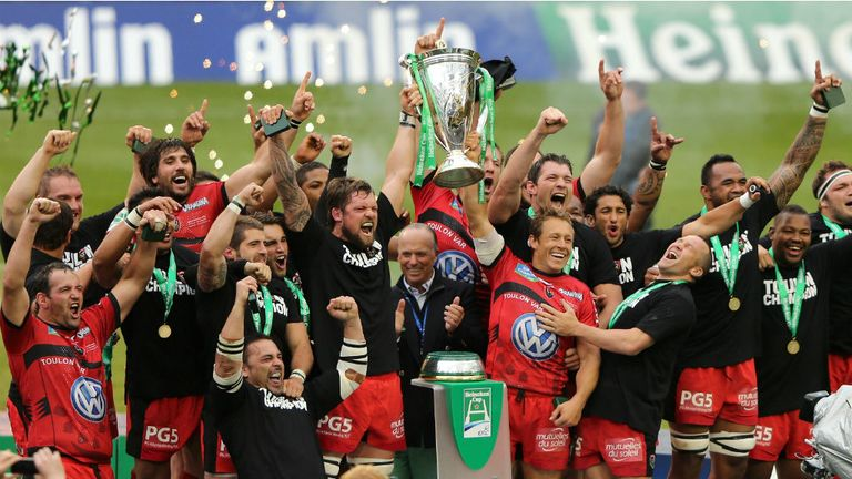 Toulon: Reigning Heineken Cup champions after victory in May
