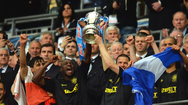 Wigan won the FA Cup in 2013 but suffered relegation to the Championship in the same season