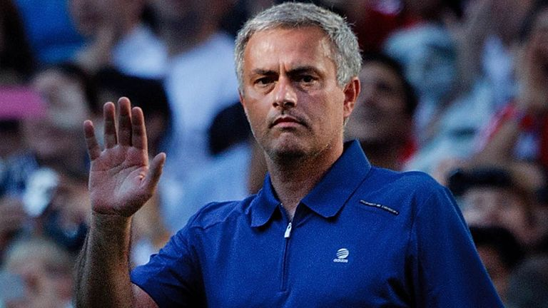 Jose Mourinho during Saturday's finale with Real Madrid