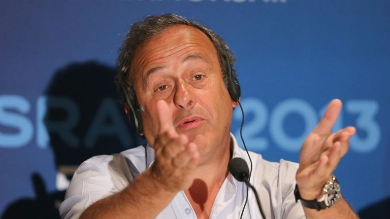 Michel Platini: Speaking at a press conference in Jerusalem ahead of Tuesday's final between Spain U21 and Italy U21