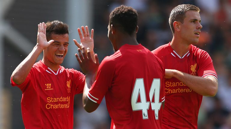 Philippe Coutinho: Celebrates and continues his excellent form for Liverpool