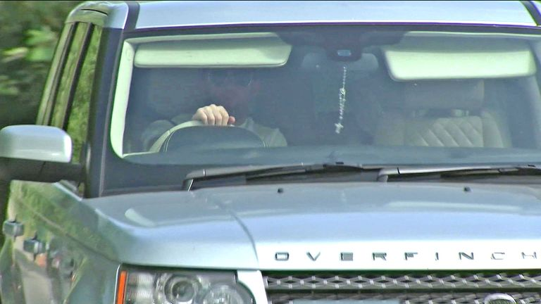 Wayne Rooney arrives at Carrington on Wednesday