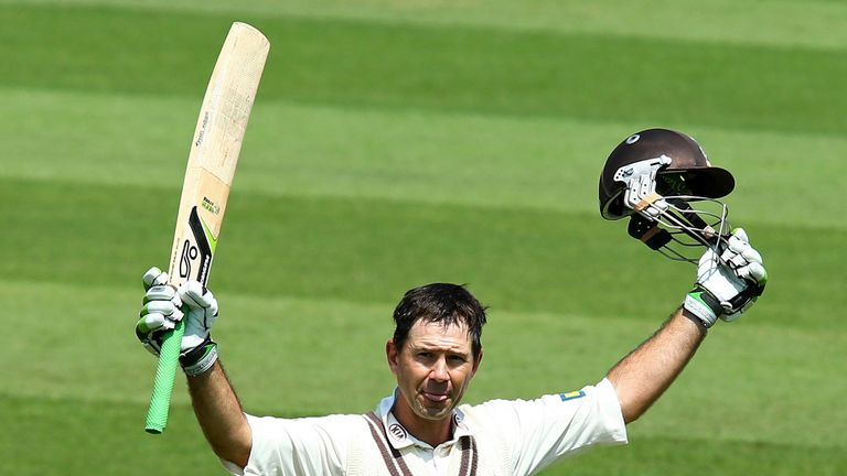Ricky Ponting had a brief spell with Surrey in county cricket