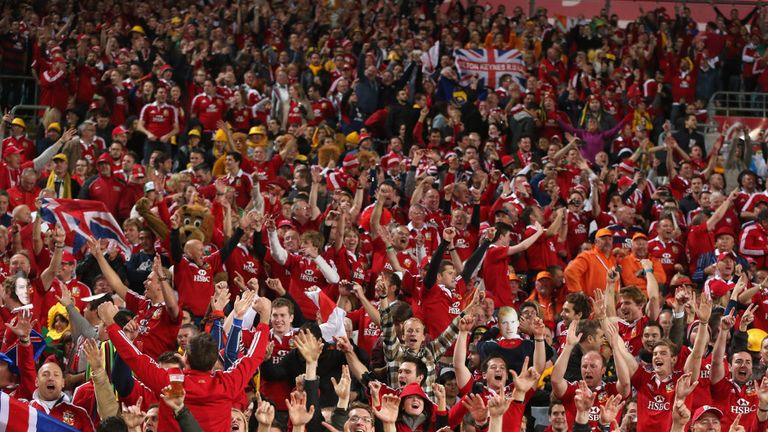Lions supporters have travelled in extraordinary numbers to South Africa, Australia and New Zealand over the years