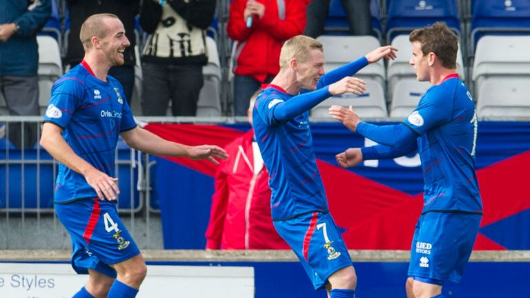 Inverness: Celebrate their opening goal