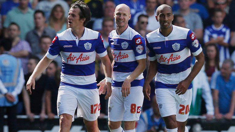 Andrew Johnson: Celebrates scoring the winning goal for QPR