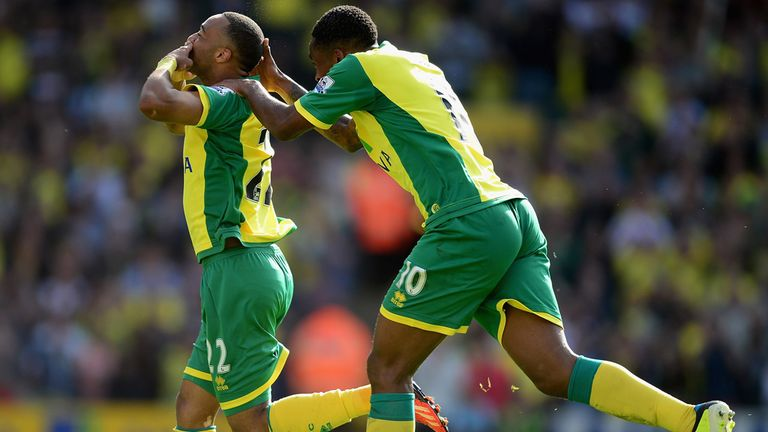 Nathan Redmond: Celebrates scoring the winning goal for Norwich