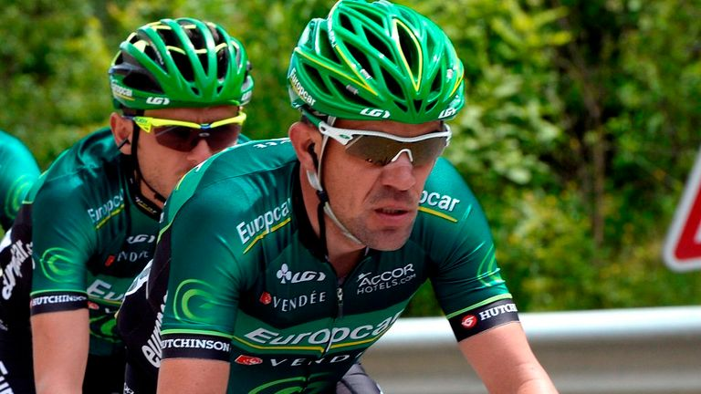 Anthony Charteau won the polka dot jersey at the Tour de France in 2010