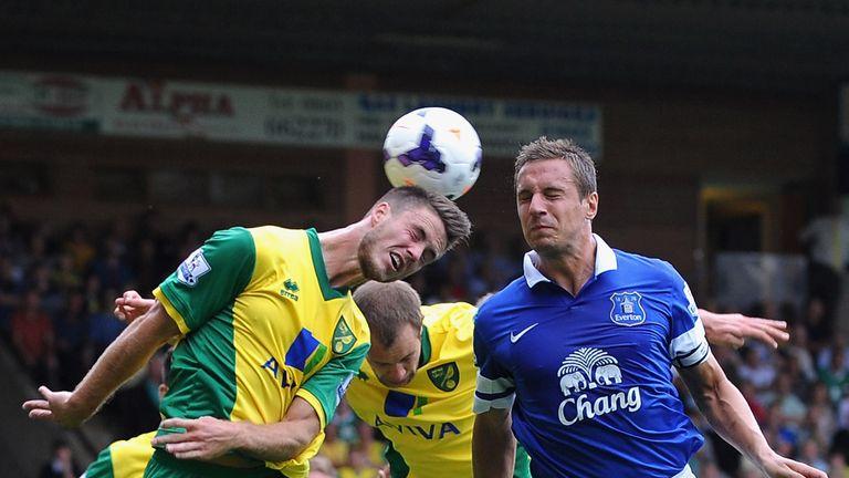 Ricky van Wolfswinkel: Headed home Norwich's equaliser