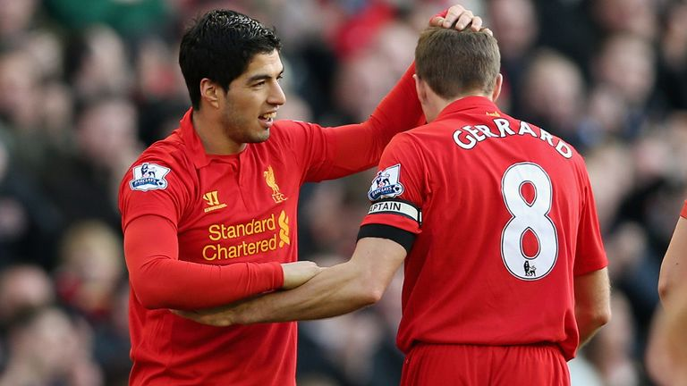 Steven Gerrard: Hoping to see Luis Suarez's fine form recognised