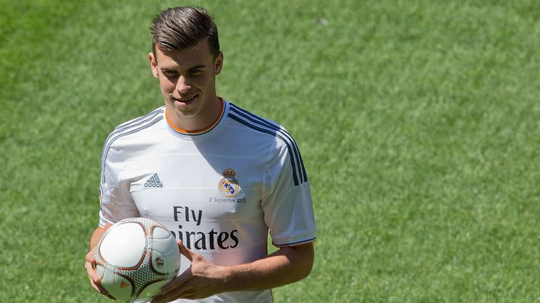It was all smiles as the Welshman became a Real Madrid player