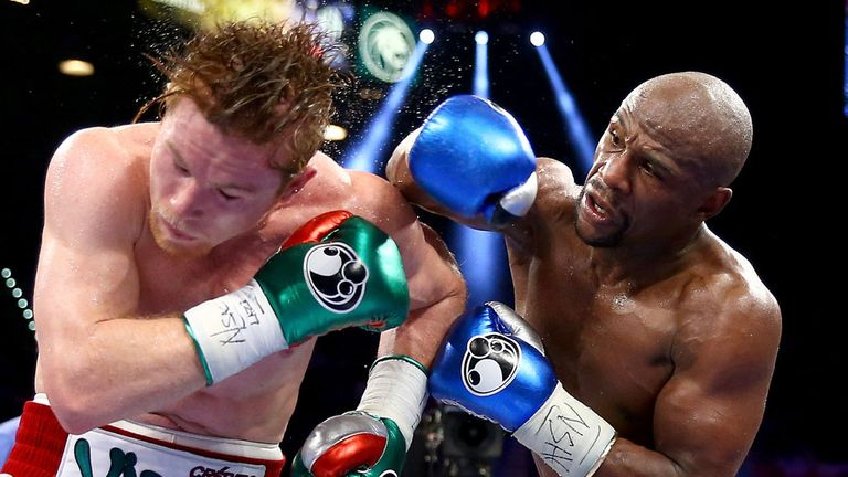 Floyd Mayweather claimed a points win over Saul Alvarez in 2013