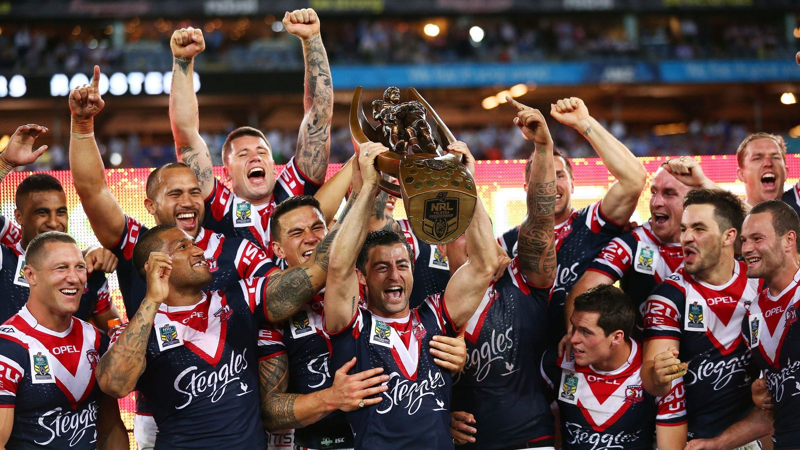 Nrl Grand Final Sydney Roosters Hit Back To Shock Manly Sea Eagles Rugby League News Sky Sports