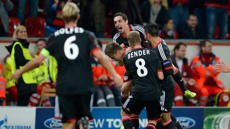 Jens Hegeler: Celebrates his winning goal against Real Sociedad