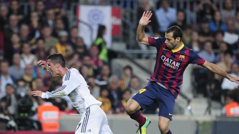Mascherano brings down Ronaldo