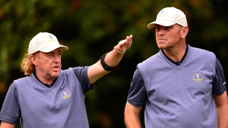 Thomas Bjorn (r) took part in the Seve Trophy at the start of the month