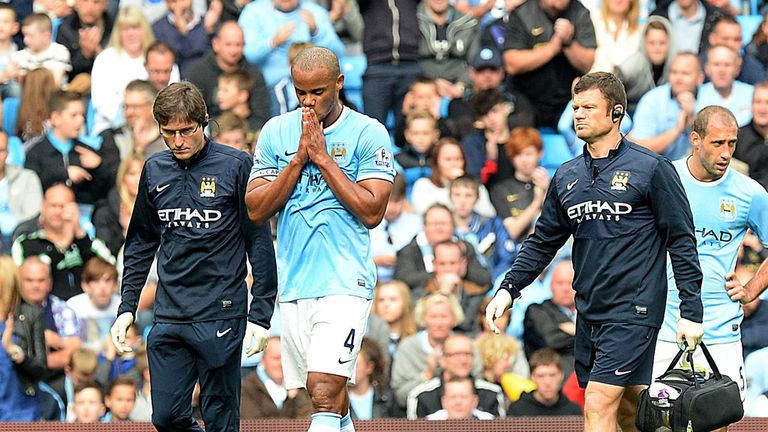 Vincent Kompany: Faces another three weeks out