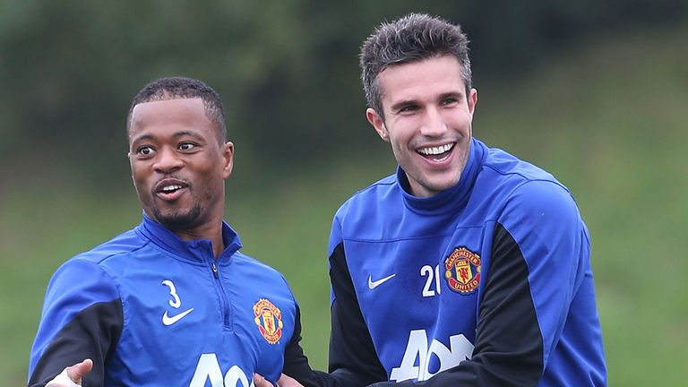 Robin van Persie (R): Will he link up with old friend Patrice Evra?