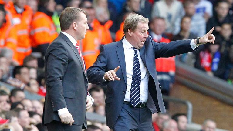 Brendan Rodgers and Harry Redknapp on the touchline last season