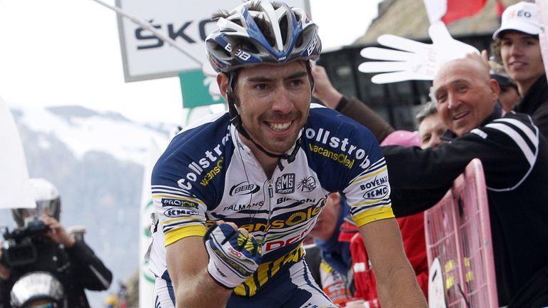 Thomas de Gendt won on the Stelvio in the 2012 Giro