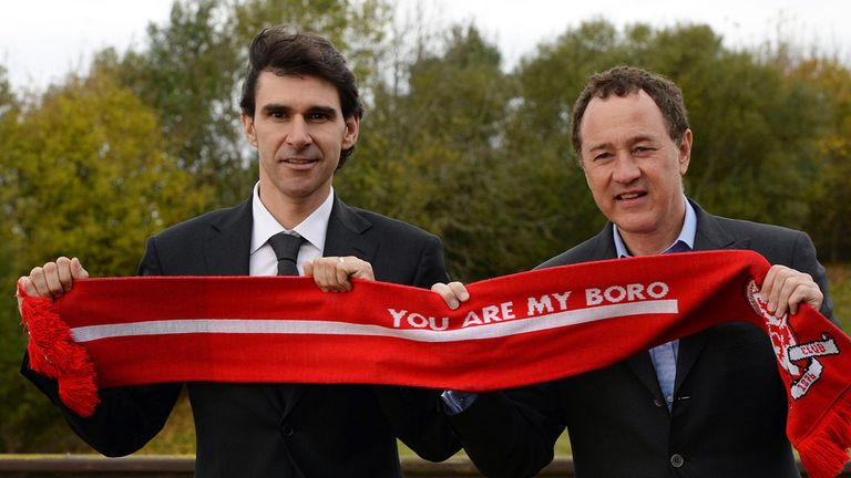 Steve Gibson (right) decided to act after Karanka's bust-up with Downing