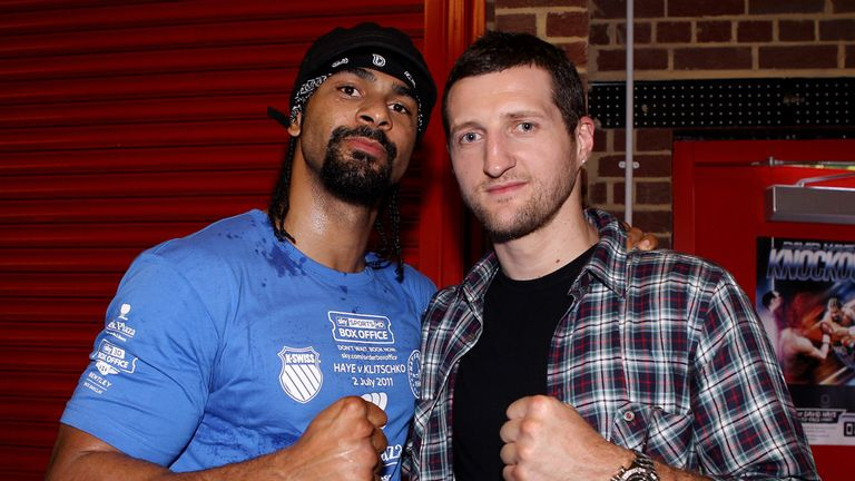 Carl Froch and David Haye have been friends for 20 years
