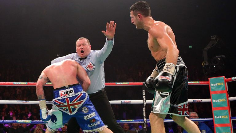 George Groves (left) was controversially stopped in his first fight with Froch