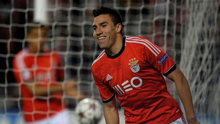 Nicolas Gaitan: Celebrates his winner against PSG