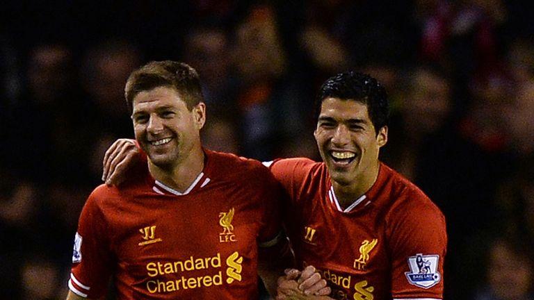 Steven Gerrard and Luis Suarez: Top of the league at Christmas