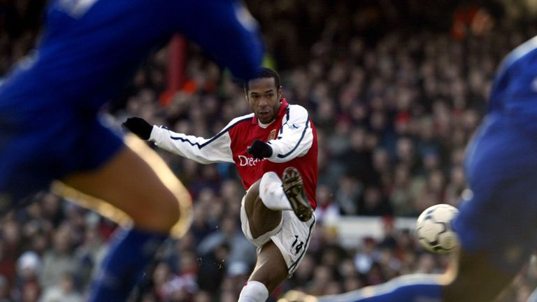 Thierry Henry in action for Arsenal
