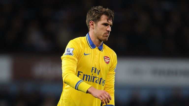 Aaron Ramsey limps off at West Ham