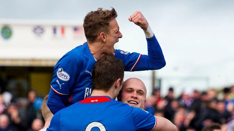 Nicky Law (r): Broke the deadlock against Ayr United