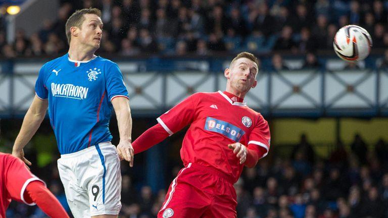 Jon Daly: Glances in a Lee Wallace free-kick to make it 2-0