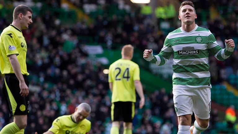 Kris Commons celebrates his early strike on Sunday
