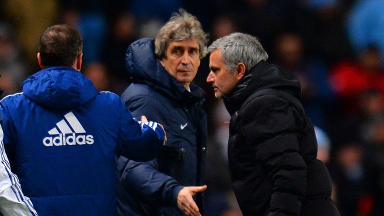 The pair clashed in Mourinho's time at Chelsea while Pellegrini was at Man City