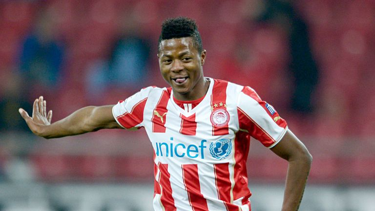 Michael Olaitan: Collapsed during Athens derby