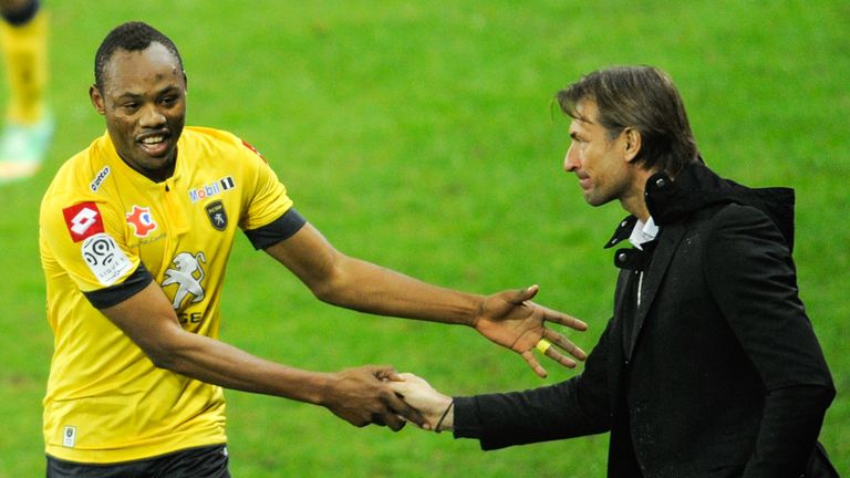 Herve Renard (right): Has overseen Sochaux's remarkable revival