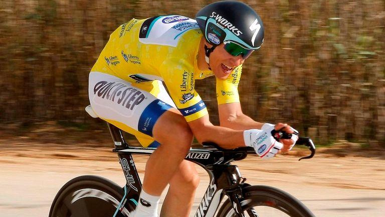Michal Kwiatkowski defeated time trial specialists Adriano Malori and Tony Martin