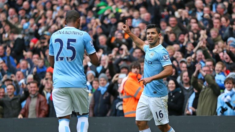 Fernandinho and Sergio Aguero: One in, one out for Barca game